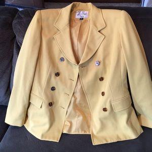 Yellow blazer jacket